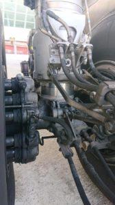 Landing gear met olie lekkage